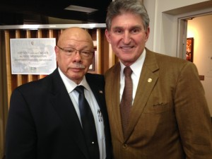 James Green, Jr. (left) with Senator Joe Manchin III.