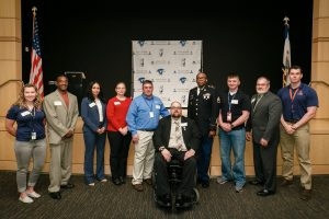 AMU students, alumni, and ambassadors at the APUS Veterans Center Opening on April 29, 2016.